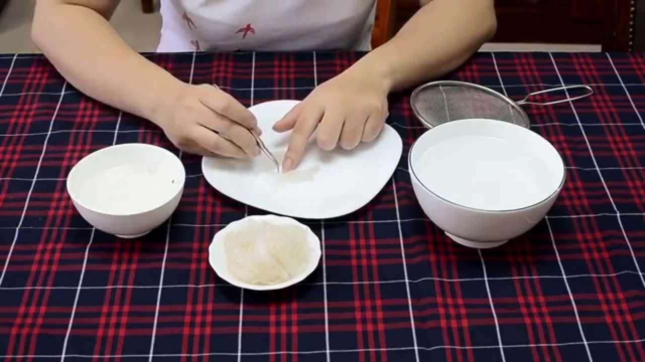 Bí quyết nhặt sạch lông yến sào tổ